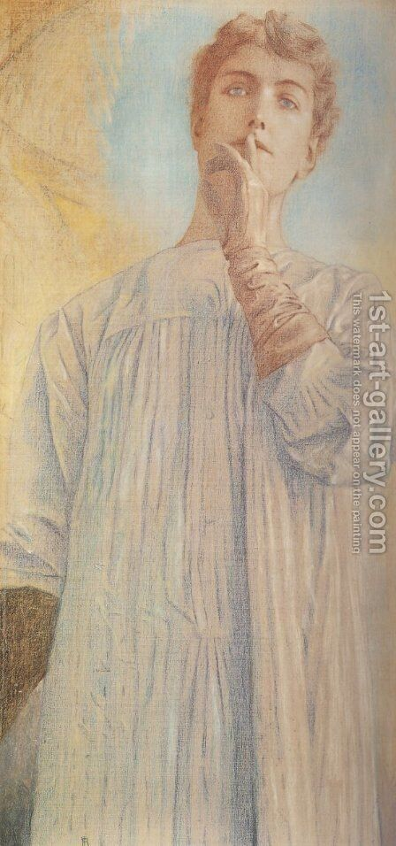 Silence by Fernand Khnopff - Reproduction Oil Painting