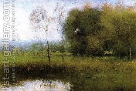 Summer, Montclair (or New Jersey Landscape) by George Inness - Reproduction Oil Painting