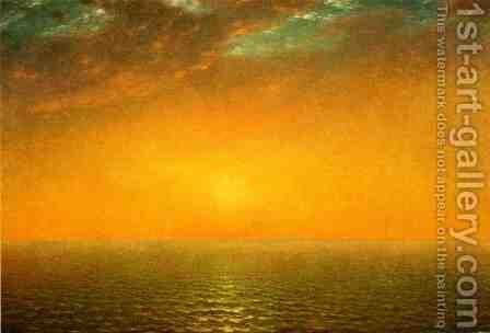 Sunset on the Sea by John Frederick Kensett - Reproduction Oil Painting