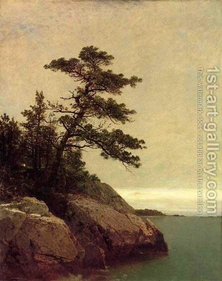 The Old Pine, Darien, Connecticut by John Frederick Kensett - Reproduction Oil Painting