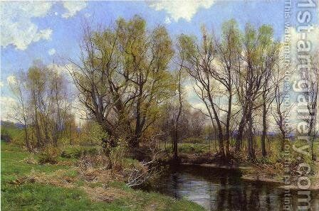 Early Spring, Near Sheffield, Massachusetts by Hugh Bolton Jones - Reproduction Oil Painting