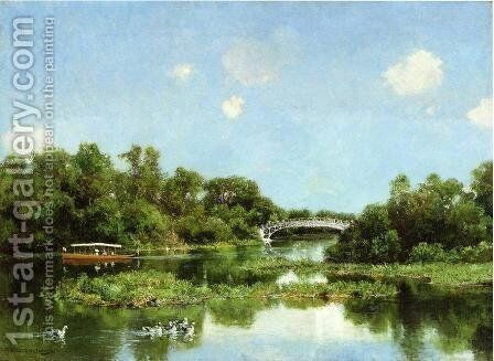 South End of Wooded Island (or View of Transportation Terrace) by Hugh Bolton Jones - Reproduction Oil Painting
