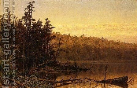 Evening on the Severn by Hugh Bolton Jones - Reproduction Oil Painting