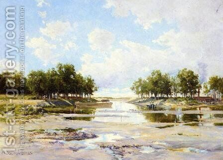 Inlet at Low Tide by Hugh Bolton Jones - Reproduction Oil Painting