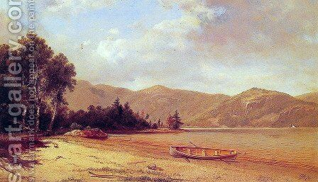 View of Dresden, Lake George by David Johnson - Reproduction Oil Painting