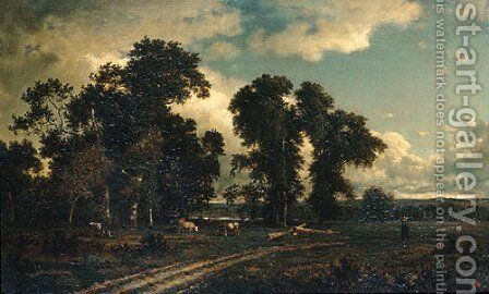 On the Unadilla, New York by David Johnson - Reproduction Oil Painting
