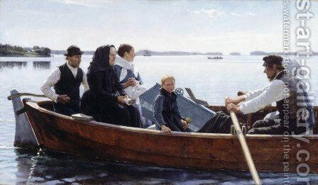 A Child's Funeral by Albert Edelfelt - Reproduction Oil Painting