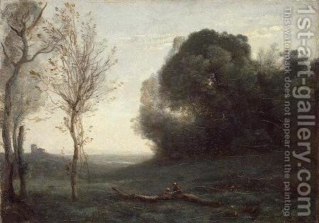 Morning by Jean-Baptiste-Camille Corot - Reproduction Oil Painting