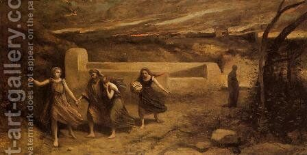 The Destruction of Sodom by Jean-Baptiste-Camille Corot - Reproduction Oil Painting