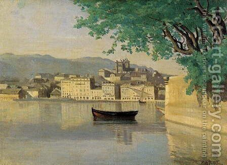 Geneva - View of Part of the City by Jean-Baptiste-Camille Corot - Reproduction Oil Painting