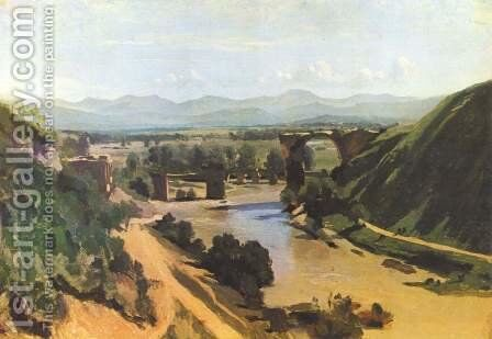 The Augustan Bridge at Narni by Jean-Baptiste-Camille Corot - Reproduction Oil Painting