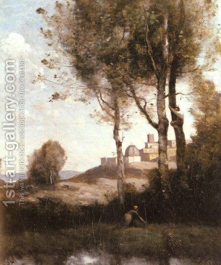 Les denicheurs Toscans by Jean-Baptiste-Camille Corot - Reproduction Oil Painting