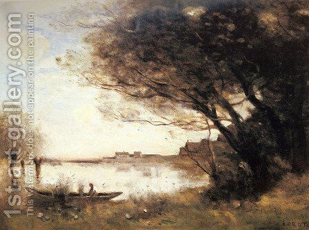 L'Inondation (or Effet du Matin) by Jean-Baptiste-Camille Corot - Reproduction Oil Painting