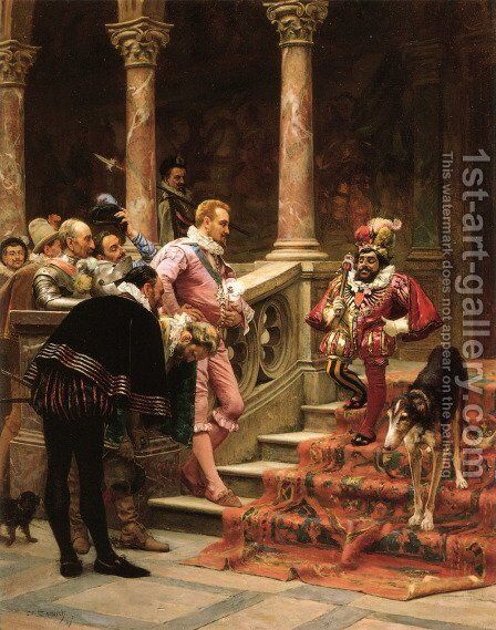The Favourite Of The King by Eduardo Zamacois y Zabala - Reproduction Oil Painting