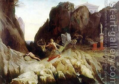 The Wrath of Orestes by Blaise Alexandre Desgoffe - Reproduction Oil Painting
