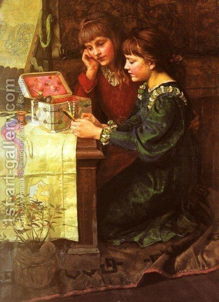 The Sewing Box by Mary L. Gow - Reproduction Oil Painting