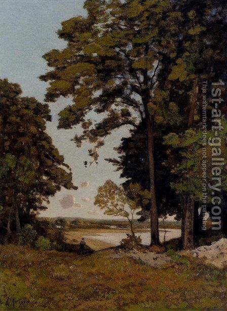 A Summer's Day On The Banks Of The Allier by Henri-Joseph Harpignies - Reproduction Oil Painting