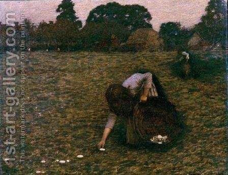 Dawn by Henry Herbert La Thangue - Reproduction Oil Painting
