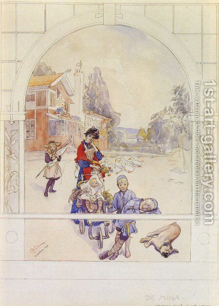 My Loved Ones by Carl Larsson - Reproduction Oil Painting