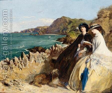 By the Seaside by Abraham Solomon - Reproduction Oil Painting