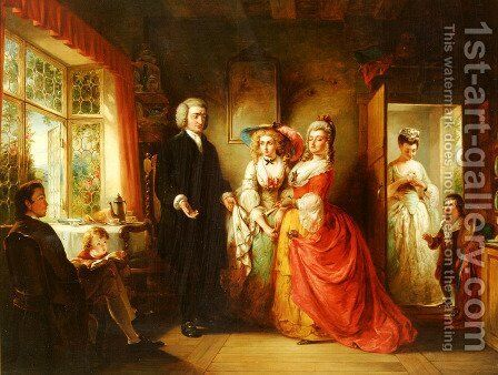 The Vicar of Wakefield by Abraham Solomon - Reproduction Oil Painting