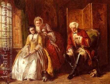The Bashful Lover by Abraham Solomon - Reproduction Oil Painting