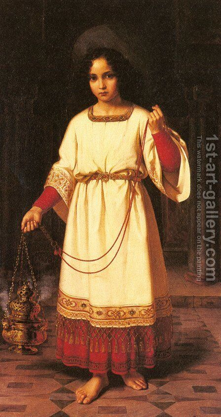 The Acolyte by Abraham Solomon - Reproduction Oil Painting