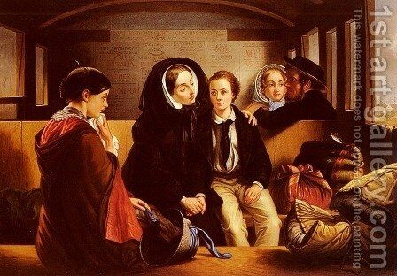 Second Class - The Parting by Abraham Solomon - Reproduction Oil Painting