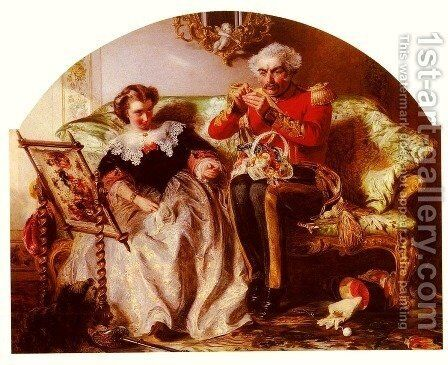 The Lion In Love by Abraham Solomon - Reproduction Oil Painting