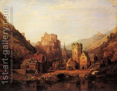 Balduinstein on the Lahn by Clarkson Stanfield - Reproduction Oil Painting