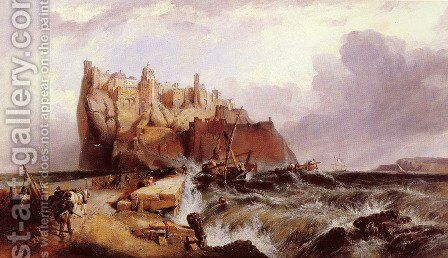 The Castle of Ischia by Clarkson Stanfield - Reproduction Oil Painting