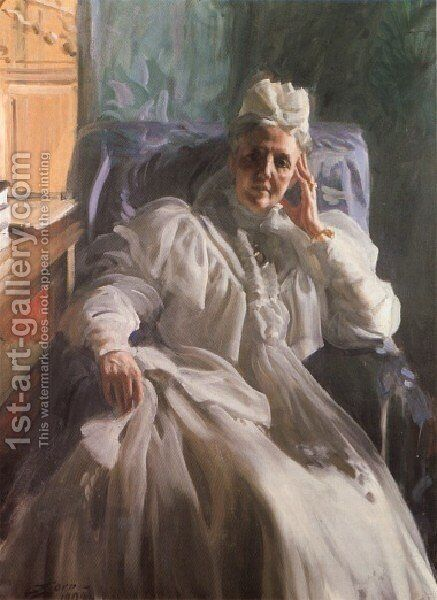 Drottning Sophia (Queen Sophia) by Anders Zorn - Reproduction Oil Painting