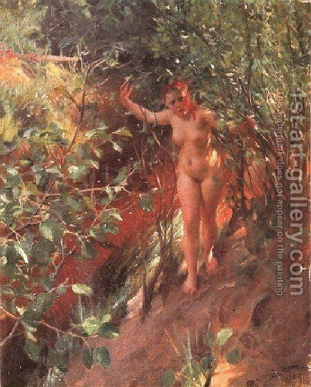 Röd sand (Red sand) by Anders Zorn - Reproduction Oil Painting