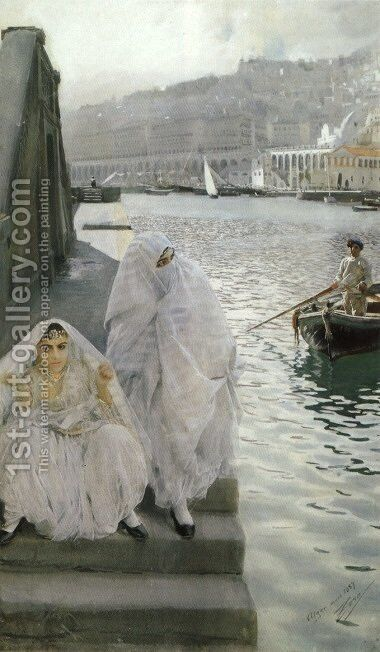 I Algers Hamn (In the harbour of Algiers) by Anders Zorn - Reproduction Oil Painting