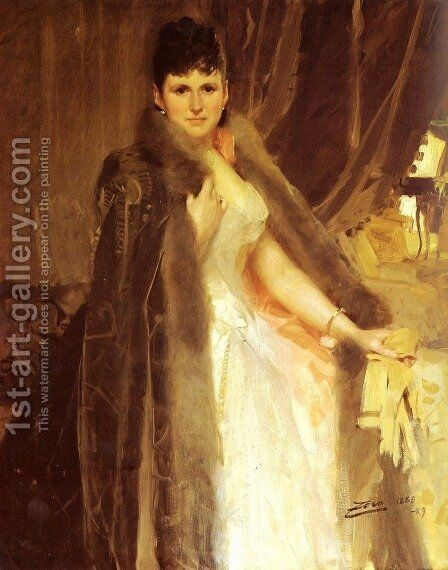 Mrs. Symons by Anders Zorn - Reproduction Oil Painting