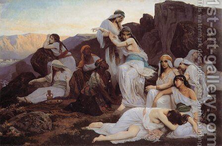 The Daughter of Jephthah by Edouard Bernard Debat-Ponsan - Reproduction Oil Painting