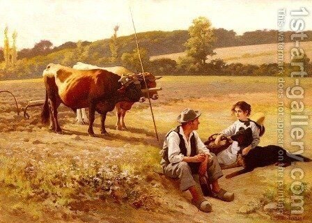 Rest In The Fields by Edouard Bernard Debat-Ponsan - Reproduction Oil Painting