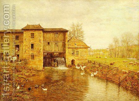 Le Moulin de Gatellier by Marie-Francois-Firmin Girard - Reproduction Oil Painting