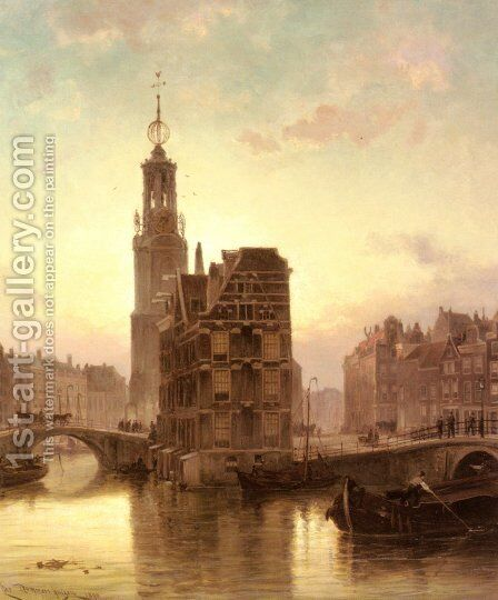 Amsterdam by Cornelis Christiaan Dommelshuizen - Reproduction Oil Painting