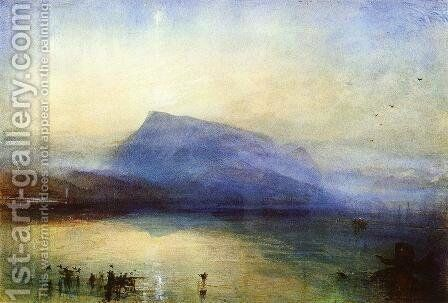 The Blue Rigi: Lake of Lucerne - Sunrise by Turner - Reproduction Oil Painting