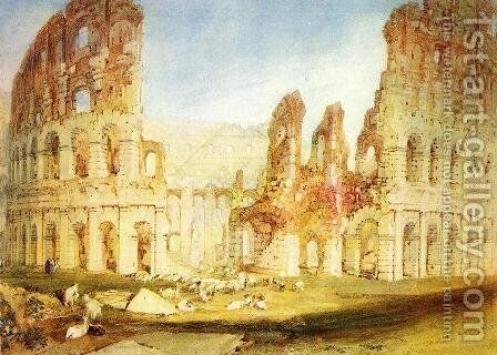 Rome: The Colosseum by Turner - Reproduction Oil Painting