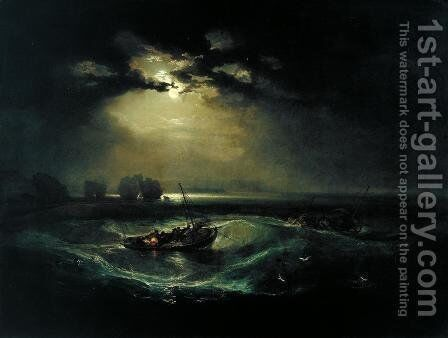 Fishermen at Sea (or The Cholmeley Sea Piece) by Turner - Reproduction Oil Painting