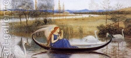 My Soul is an Enchanted Boat... by Walter Crane - Reproduction Oil Painting