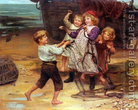 The Day's Catch by Arthur John Elsley - Reproduction Oil Painting