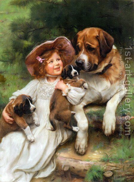 Which May I Keep by Arthur John Elsley - Reproduction Oil Painting