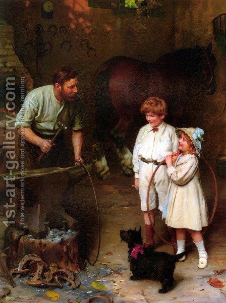 As Good as Ever by Arthur John Elsley - Reproduction Oil Painting