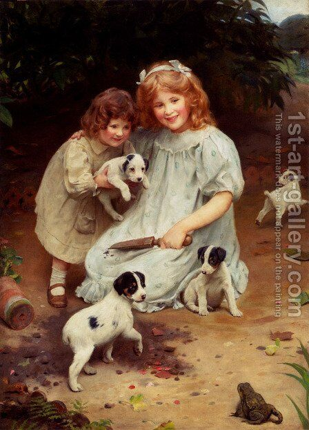 An Uninvited Guest by Arthur John Elsley - Reproduction Oil Painting