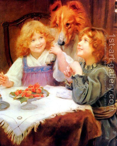 High Expectations by Arthur John Elsley - Reproduction Oil Painting