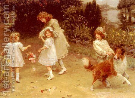 Love At First Sight by Arthur John Elsley - Reproduction Oil Painting