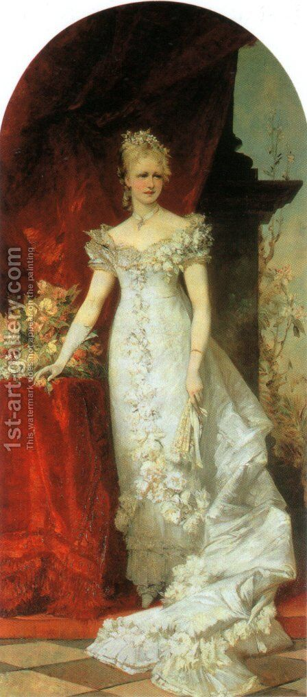 Kronprinzessin Stephanie (Crown Princess Stephanie) by Hans Makart - Reproduction Oil Painting